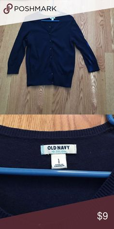 Navy Blue Old navy cardigan perfect condition•• navy blue sweater. Old Navy Sweaters Cardigans