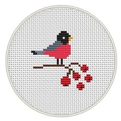 Thrilling Designing Your Own Cross Stitch Embroidery Patterns Ideas. Exhilarating Designing Your Own Cross Stitch Embroidery Patterns Ideas. Small Cross Stitch, Cross Stitch Fabric, Cross Stitch Bird, Cross Stitch Animals, Modern Cross Stitch, Cross Stitch Charts, Cross Stitching, Cross Stitch Embroidery, Embroidery Patterns