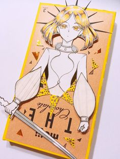 Yellow Diamond Tape Art, Paper Tape, Manga Art, Anime Art, Identity Art, Animation, Dark Anime, Awesome Anime, Me Me Me Anime