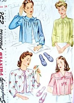 1940s bed jacket sewing pattern