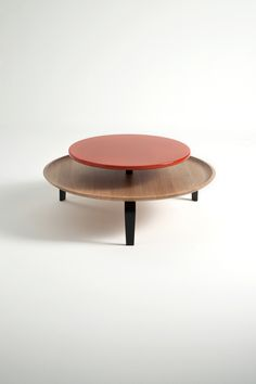 Catharina Lorenz and Steffen Kaz; Oak, Painted Wood and Painted MDF 'Secreto' Coffee Table by Lorenz*Kaz for Colé, 2010s.
