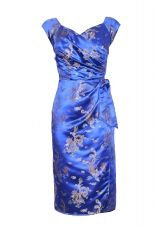 Blue satin evening dress from Bombshell By Katya Wildman