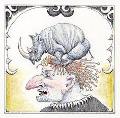 People with animals on their head: Rhinoceros © 2016
