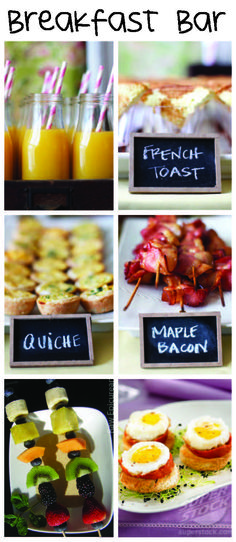 brunch wedding: easy and delicious: allergen options such as vegan/gluten free raw granola and almond milk and fruit salad