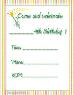 birthday fireworks free printable 4th birthday party invitations httpwwwprintfreecards