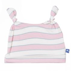 Print Double Knot Hat in Girl Musical Stripe
