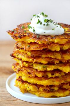 It's easier than ever to eat your veggies with this quick and easy recipe for butternut squash fritters made with just 5 ingredients!