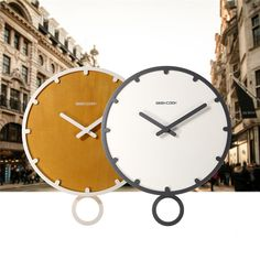 Contracted Sitting Room Wall Clock Creative Home Wooden Clock With Swing