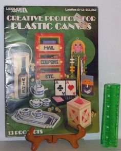 Plastic Canvas Crafts 1982 Needlepoint Pattern Leaflet #213 Creative Projects