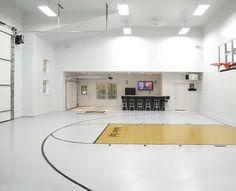 Epoxy Flooring : Durable Flooring : Garage Flooring : Ideal Coatings - See-All Garage Floor Epoxy, Epoxy Floor, Garage Flooring, Home Basketball Court, Basketball Room, Sports Court, Gym Room, Garage House, My Dream Home