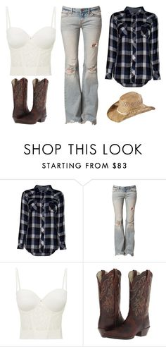 """""""Dirt Road Diary"""" by jwpixie ❤ liked on Polyvore featuring Rails, Free People, Le Mystère, Ariat and KENNY"""