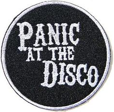 Put the patch on the place on the item you want to attach the patch to. Panic At The Disco Embroidered Badge Patch. Protect patch surface with damp cloth and ironon with high temperature then press the ironer over the patch for seconds about times. Band Patches, Cute Patches, Pin And Patches, Iron On Patches, Jacket Patches, Grunge Goth, Estilo Rock, Panic! At The Disco, Band Logos