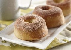 I found this recipe for Baked Cinnamon Sugar Doughnuts, on Breadworld.com. You've got to check it out!