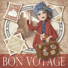 Carte postale Bon voyage Nina DE SAN - lamarelle.net