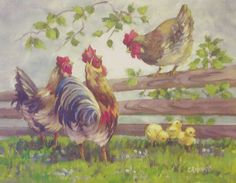 Cackling Hens by Christie Repasy