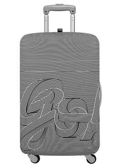 Baggage Covers Eiffel Tower Black White Wave Stripes Washable Protective Case
