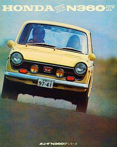 Kei Car, Japanese Sports Cars, Microcar, Honda Motors, Car Brochure, Yellow Car, Old School Cars, Honda Cars, Honda Shadow