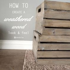 How to get that weathered look and feel in short amount of time! Combination of painting and staining -- so easy!