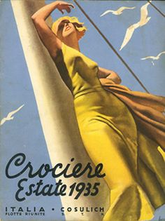Crociere Estate by Gino Boccasile - Vintage Boccasile Artist Gallery at I Desire Vintage Posters
