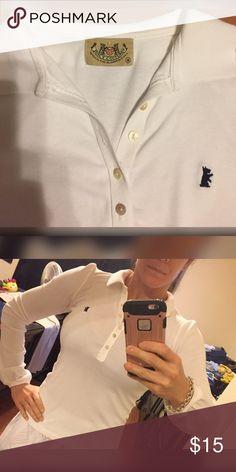 🔴FINAL PRICE🔴Juicy White Long Sleeve Shirt (szm) CLOSET CLOSING MID-JANUARY. FIRM PRICE. Juicy Couture long sleeve white shirt. No stains, no rips. Juicy Couture Tops Tees - Long Sleeve