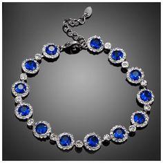Swarovski Crystals Round Blue Blue Bracelet