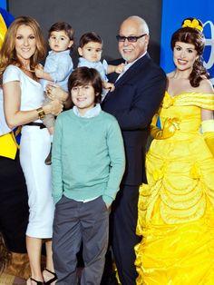 Celine Dion brought her four boys along to a screening of Beauty and the Beast over the weekend! Celine, her husband René Angélil, and their Celine Dion, Celebrity Couples, Celebrity Weddings, Divas, All In The Family, Famous Couples, Famous Women, Family Affair, Victor Hugo