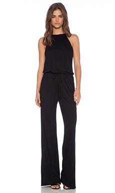 9a0ec2bbce23 Lanston Halter Jumpsuit in Black Halter Jumpsuit