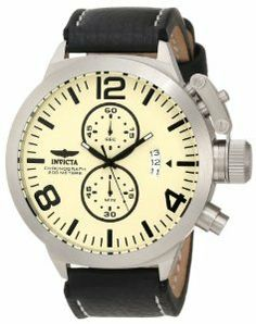 Invicta Men's 3449 Corduba Collection Oversized Chronograph Watch This Invicta stainless steel men's chronograph watch wonderfully blends classic timepiece Big Face Watches, Cool Watches, Wrist Watches, Women's Watches, White Watches For Men, Oversized Watches, Casual Watches, Trendy Watches, Beautiful Watches