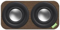 the maker of these cool wood speakers plant 100 trees for every one they use in production.