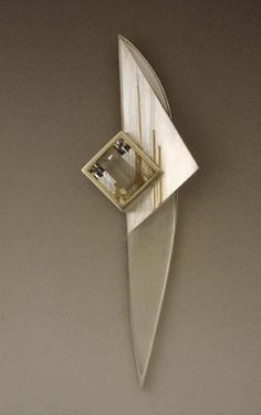 Folded Brooch by Eleanor Moty / American Art