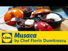Musaca • Gateste cu Chef Florin Dumitrescu - YouTube Lidl, Romanian Food, Food Videos, Bacon, Muffin, Fruit, Breakfast, Youtube, Desserts