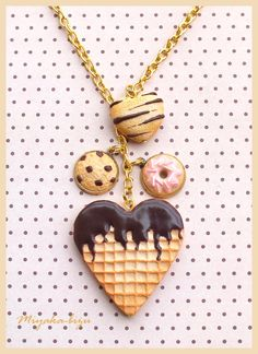 Polymer clay sweet necklace