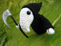 Terry Pratchett's Death of Rats crochet