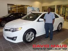 Brian with his 2012 #Toyota #Camry! Welcome to the David Maus Toyota Family, Brian! Enjoy your new ride :) #WhateverItTakes