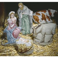 The Holy Family Heirloom Nativity Cross Stitch Downloadable ePattern -- Leisure Arts