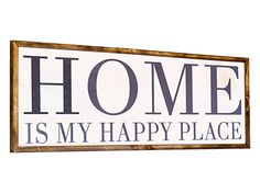 Framed Farmhouse Sign, White Hand Painted Rustic Sign