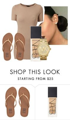 """""""cutie pie"""" by gvlden-bvbx ❤ liked on Polyvore featuring Billabong, NARS Cosmetics and Michael Kors"""