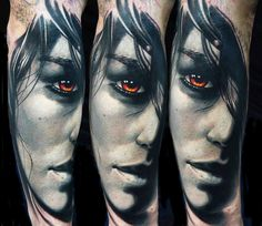 Mixing realistic art with creative effects, A.D Pancho creates painterly colorful tattoos that'll make you want to get inked. Cool Arm Tattoos, 3d Tattoos, Body Art Tattoos, Girl Tattoos, Tattoo Ink, Tattoo Images, Tattoo Photos, Face Tattoos For Women, Hyper Realistic Tattoo