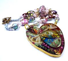 Bezel Wire and Resin - A Tutorial For Experienced Resin Users - Finished Pendant