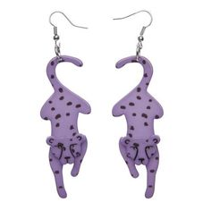 Shop the complete range of Erstwilder earrings. Find studs and drop earrings in all shapes, sizes and delightful resin characters. Unique Earrings, Drop Earrings, Purple Food, 3d Printed Jewelry, Laser Cut Acrylic, Cheetahs, Fashion Accessories, Jets, Forget