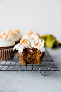 Coconut Carrot Cake Cupcakes - Sallys Baking Addiction