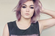 purple hair dark roots - Google Search