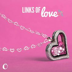 Origami Owl's new heart chain, links of love. Origami Owl Living Locket.  Kayla Scully- Mentor #14951 - http://kaylascully.origamiowl.com - http://loveablelockets.com