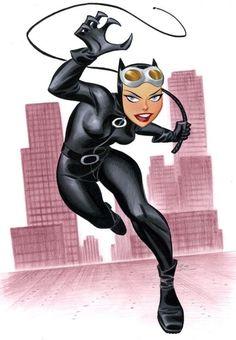 "the-catwoman: ""Bruce Timm "" DC Comics - Catwoman - Selina Kyle Catwoman Cosplay, Batman Und Catwoman, Batgirl, Joker, Comic Book Artists, Comic Book Characters, Comic Artist, Comic Character, Comic Books Art"