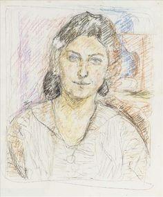 Alberto Giacometti (1901-1966) Portrait De Femme 1921 (51,7 x 42,6 cm)
