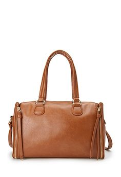 Faux Leather Crossbody Satchel   FOREVER21 - 1000122687