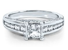 Helzberg Radiant Star® 1 1/2 ct. tw. Diamond Engagement Ring in 14K Gold available at #HelzbergDiamonds