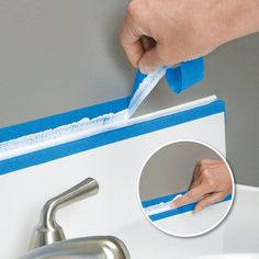 Make a Straight, Smooth Caulk Line | My Home My Style eNotes - Duh, should have thought of that.  The caulking in my bathroom has been bothering me for a year. Now I can fix that this weekend!