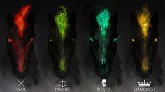 The Four Horseman by Daniel Karamudin - images edited/composited to 1920x1080 HD Wallpaper From Gallsource.com