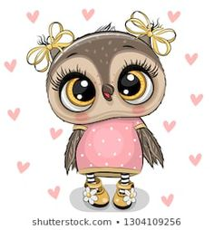 Cartoon Owl girl with headphones on a white background. Cute cartoon Owl girl with pink headphones on a white background royalty free illustration Pink Headphones, Girl With Headphones, Heart Background, Background Patterns, Owl Vector, Vector Free, Cute Owls Wallpaper, Owl Png